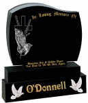 cross with praying hands and wheat o donnell headstone gravestone prices for graves