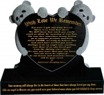 CHILDRENS HEADSTONE WITH LOVE WE REMEMBER