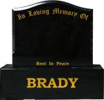 BRADY SINGLE PLOT GRAVE MEMORIALS