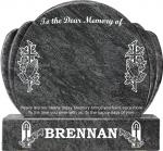 BRENNAN GRAVESTONES CROSS AND PRAYING HAND
