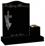 In Loving Memory Of Praying Hand and cross
