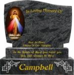 Round Top Edged Kerbed Surround Memorials-11