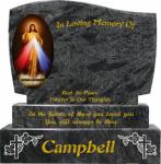 Black granite Kerbed Memorials